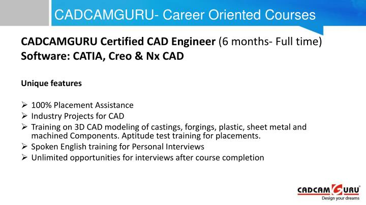 CADCAMGURU- Career Oriented Courses
