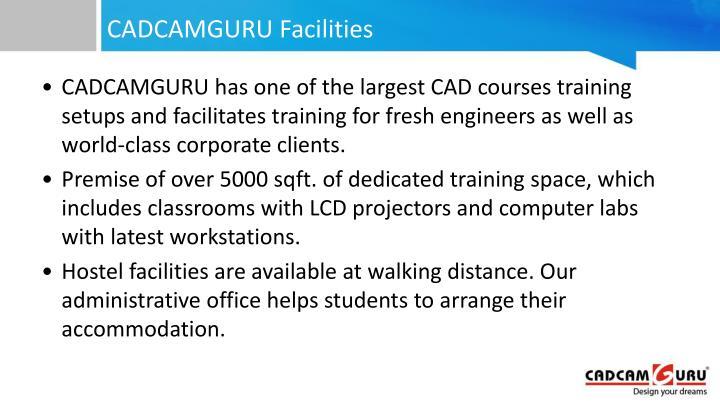 CADCAMGURU Facilities