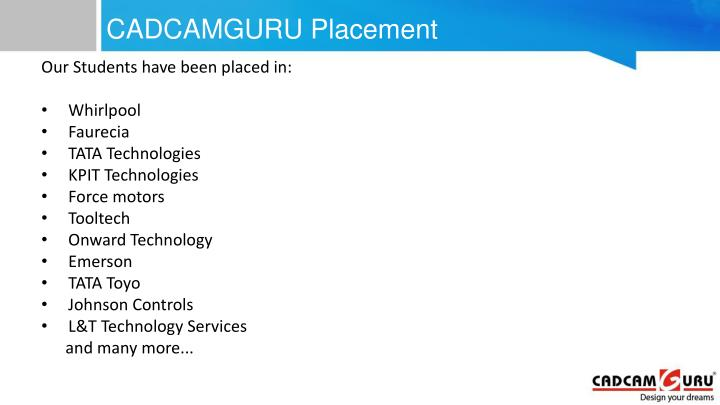 CADCAMGURU Placement