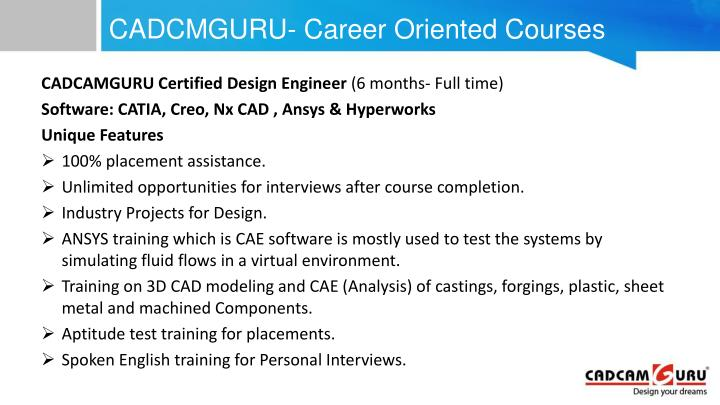 CADCMGURU- Career Oriented Courses