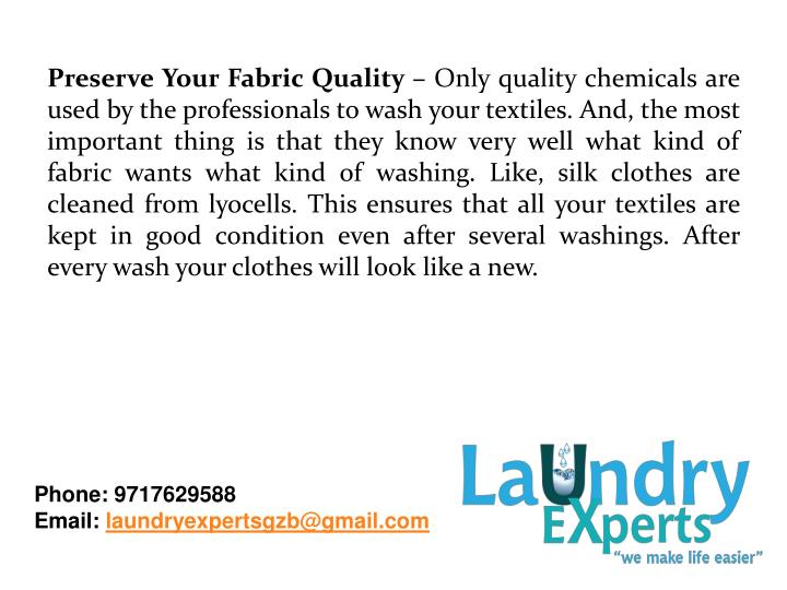 Preserve Your Fabric Quality –