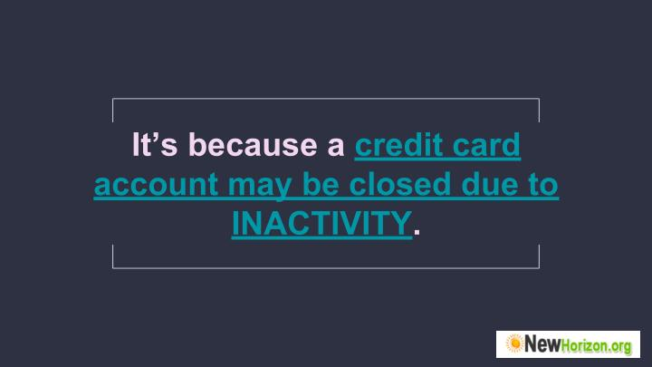 It's because a credit card
