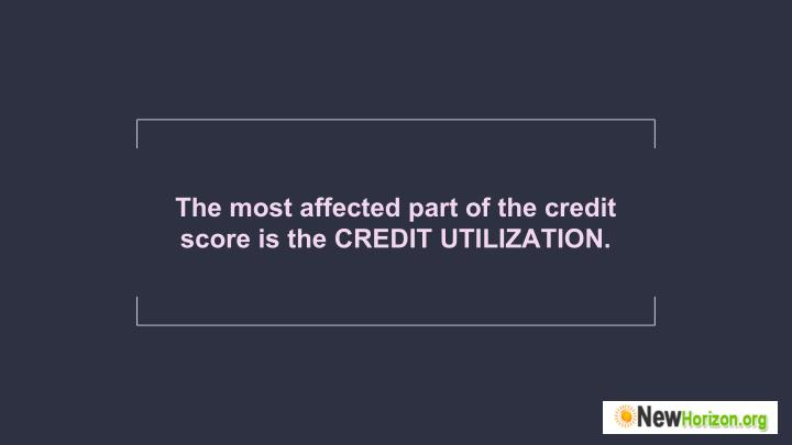 The most affected part of the credit