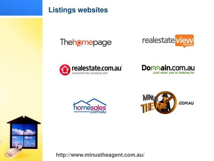 Listings websites