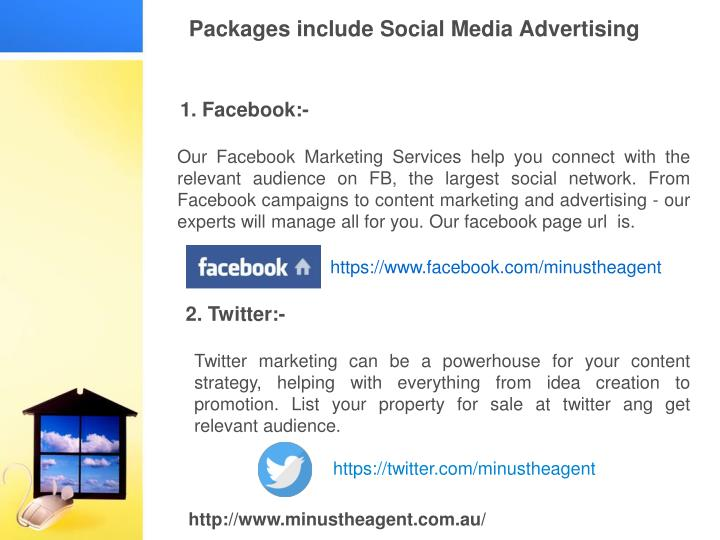 Packages include Social Media Advertising