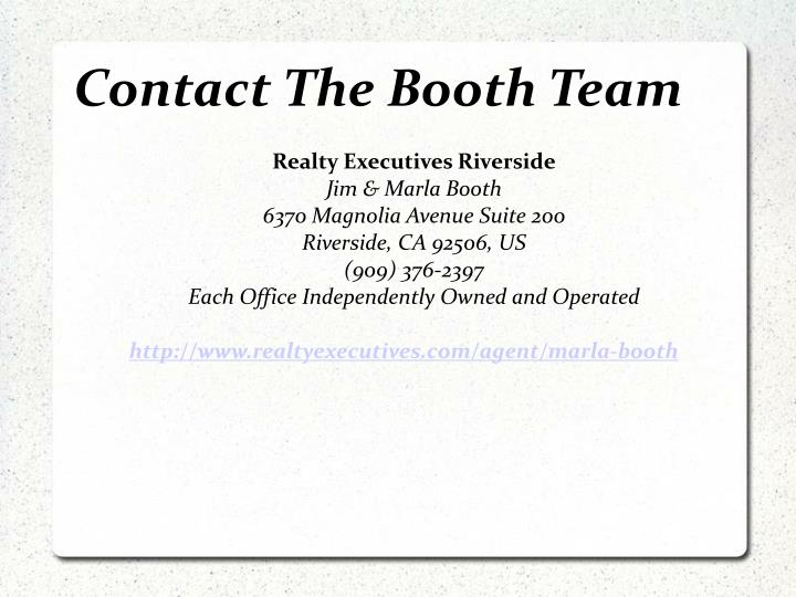 Contact The Booth Team