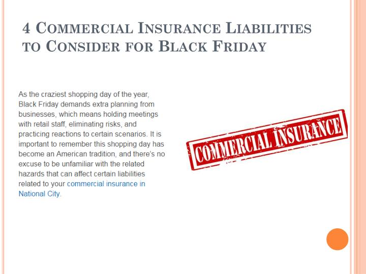 4 commercial insurance liabilities to consider for black friday