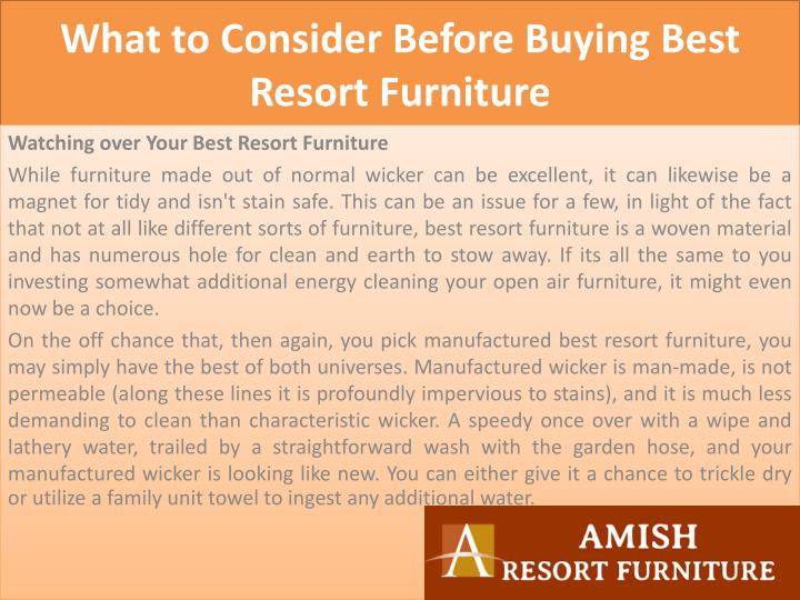 What to consider before buying best resort furniture2