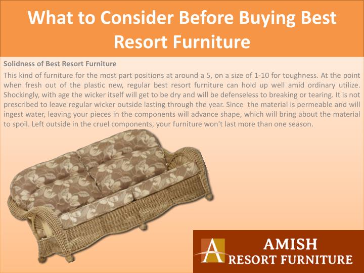 What to Consider Before Buying Best Resort Furniture