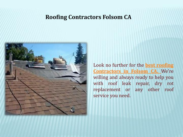 Roofing Contractors Folsom CA