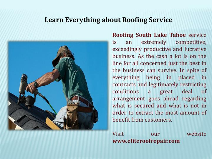 Learn Everything about Roofing Service