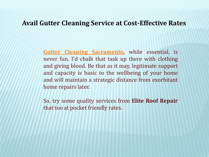 Avail Gutter Cleaning Service at Cost-Effective Rates