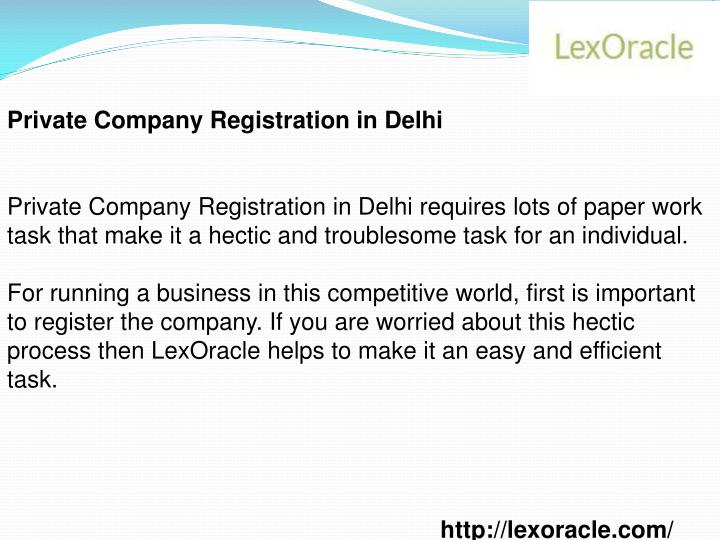 Private Company Registration in Delhi