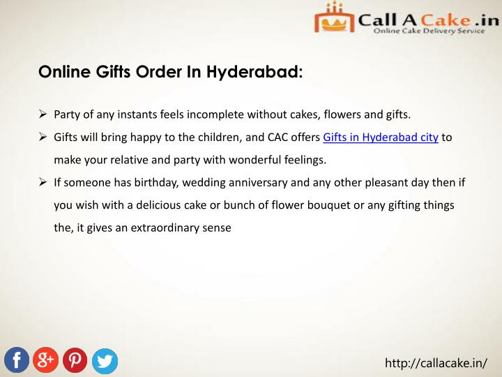 Online Gifts Order In Hyderabad: