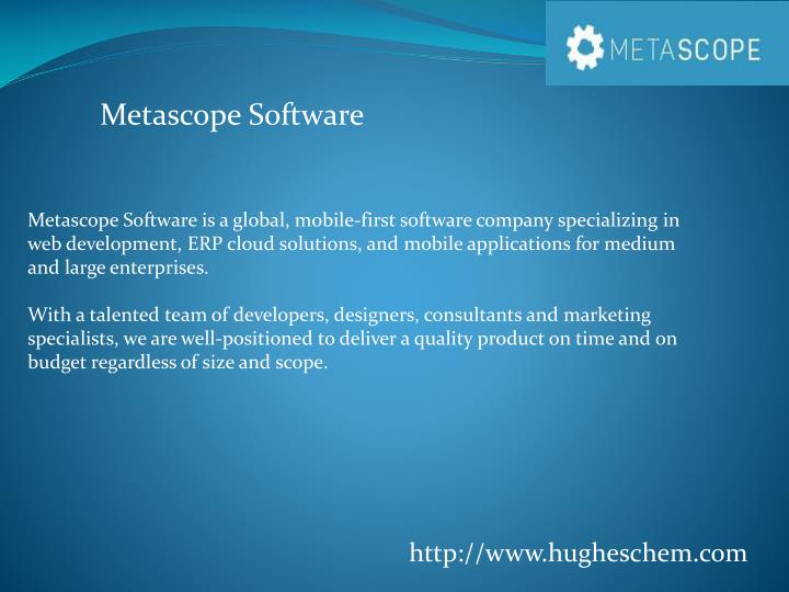 Metascope Software