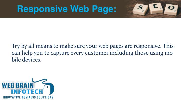 Responsive Web Page: