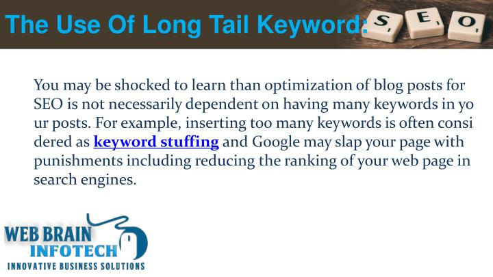 The Use Of Long Tail Keyword: