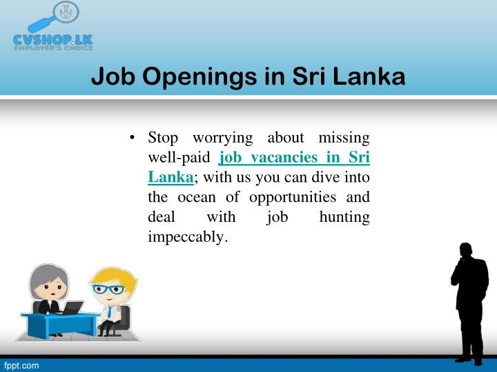 Job Openings in Sri Lanka
