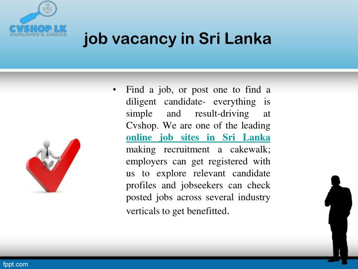 job vacancy in Sri Lanka