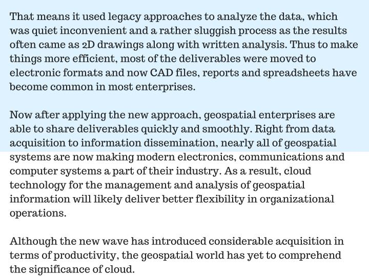 That means it used legacy approaches to analyze the data, which