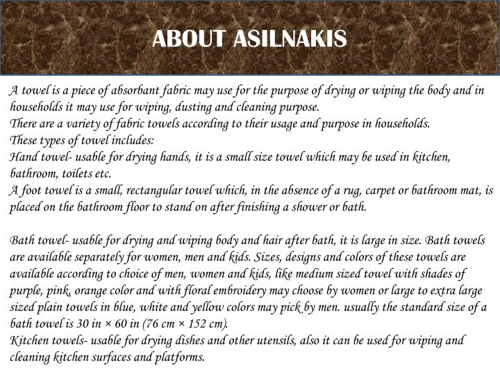 ABOUT ASILNAKIS