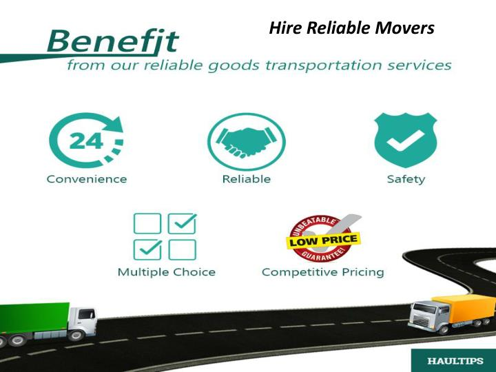 Hire Reliable Movers