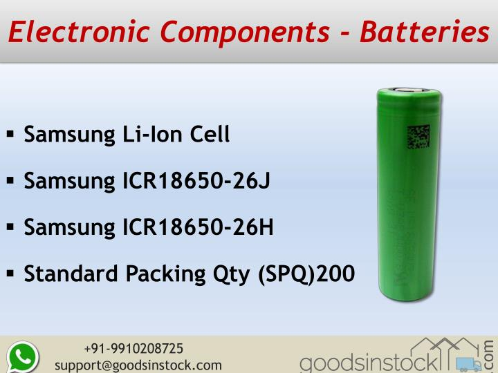 Electronic Components - Batteries