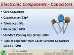 electronic components capacitors