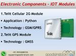 electronic components iot modules