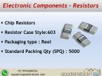 electronic components resistors