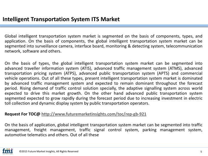 Intelligent Transportation System ITS Market