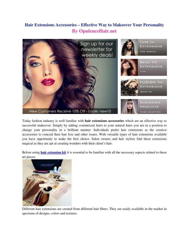 Hair Extensions Accessories – Effective Way to Makeover Your Personality