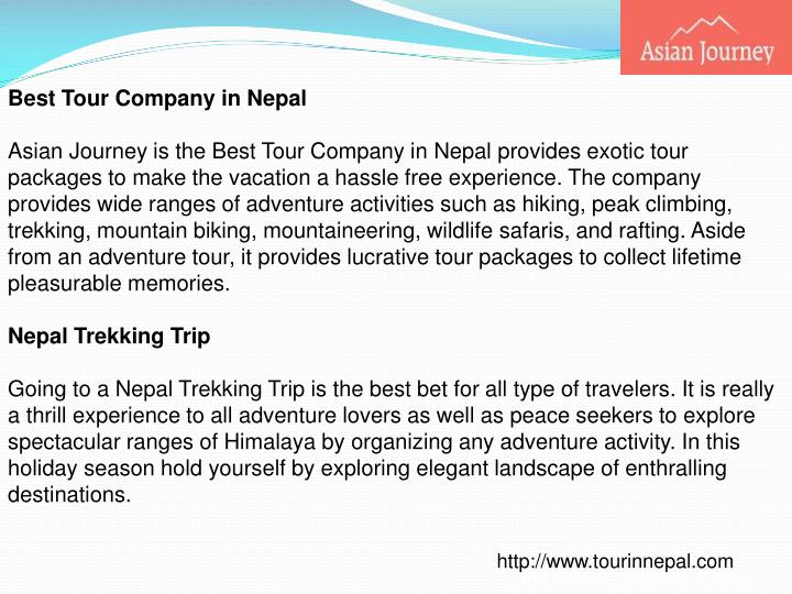 Best Tour Company in Nepal