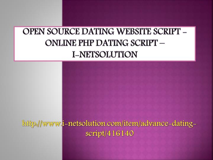 Open source dating website script online php dating script i netsolution