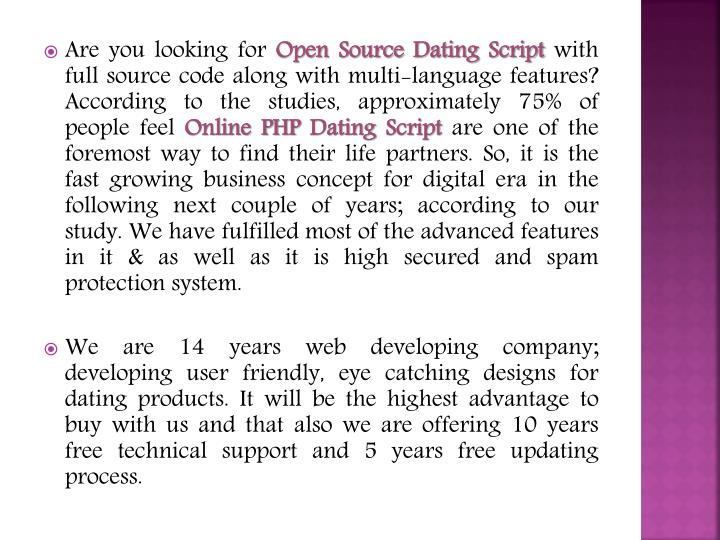 Script for online dating