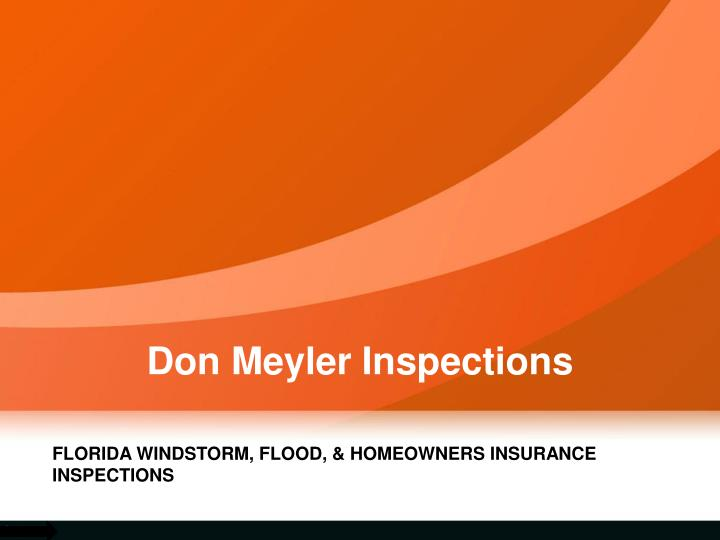 Don meyler inspections