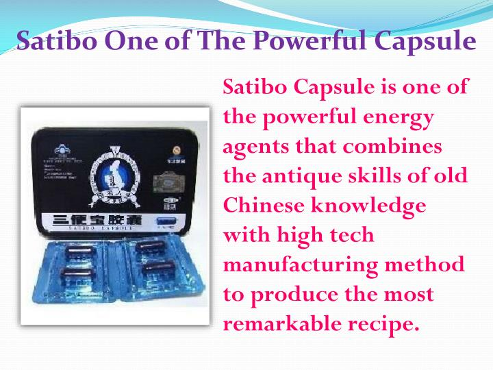 Satibo One of The Powerful Capsule