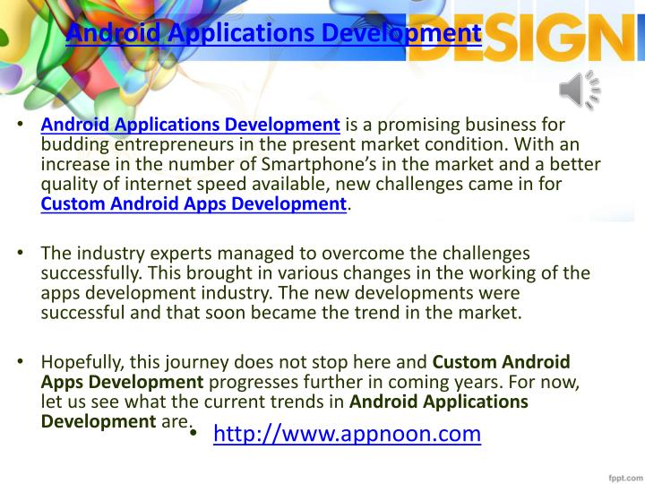 Android applications development