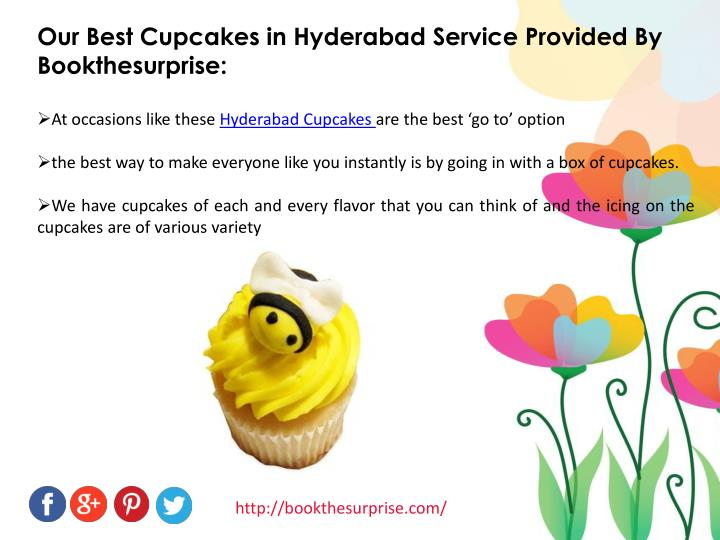 Our Best Cupcakes in Hyderabad Service Provided By