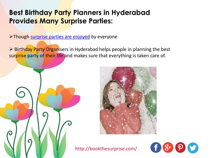 Best Birthday Party Planners in Hyderabad Provides Many Surprise Parties: