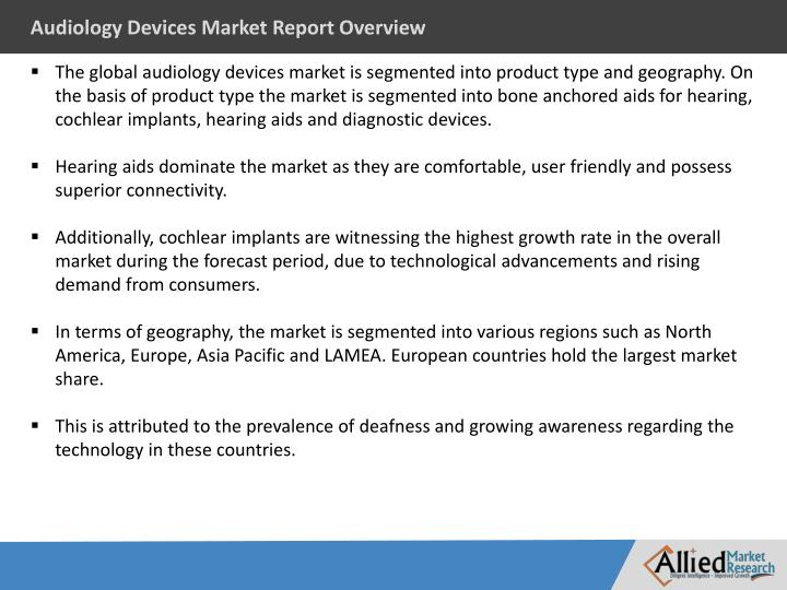 Audiology Devices Market Report