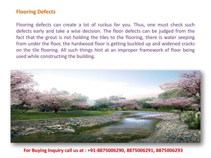 Flooring Defects