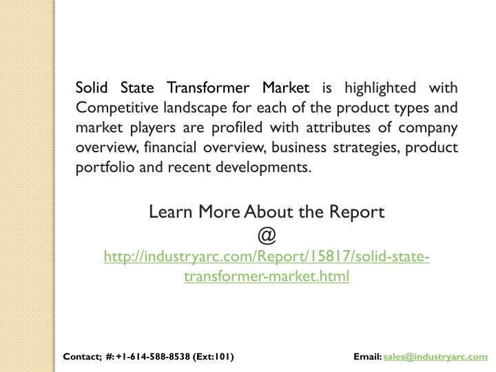 Solid State Transformer Market is highlighted with