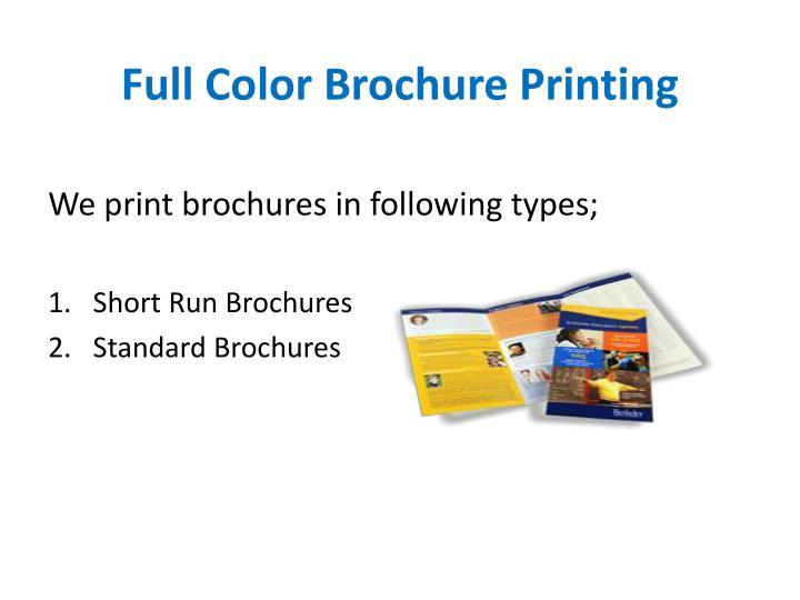 Full Color Brochure Printing