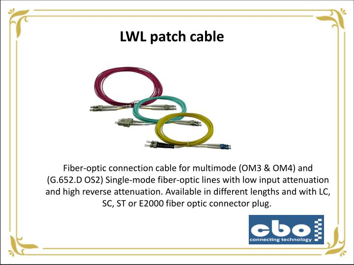 LWL patch cable