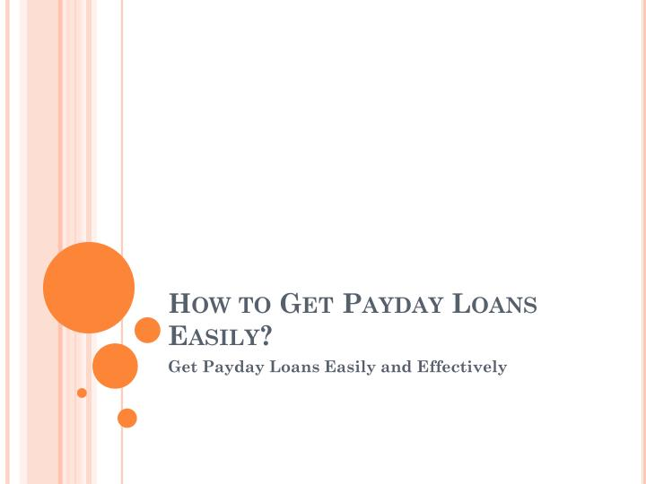 how to get payday loans easily