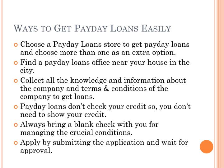 Ways to get payday loans easily