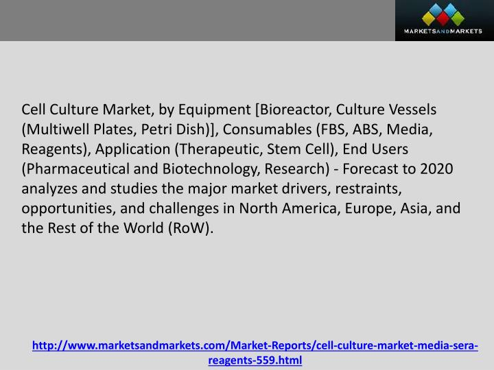 Cell Culture Market, by Equipment [Bioreactor, Culture Vessels (