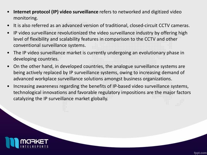 Internet protocol (IP) video surveillance