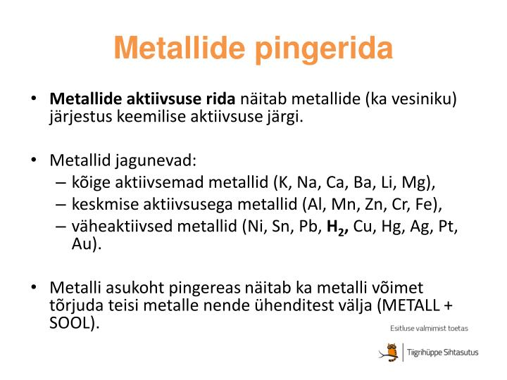 Metallide pingerida